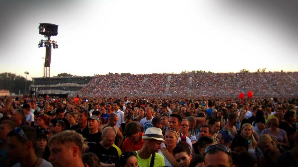 Robbie Williams - @ Krieau, Vienna, AT publikum