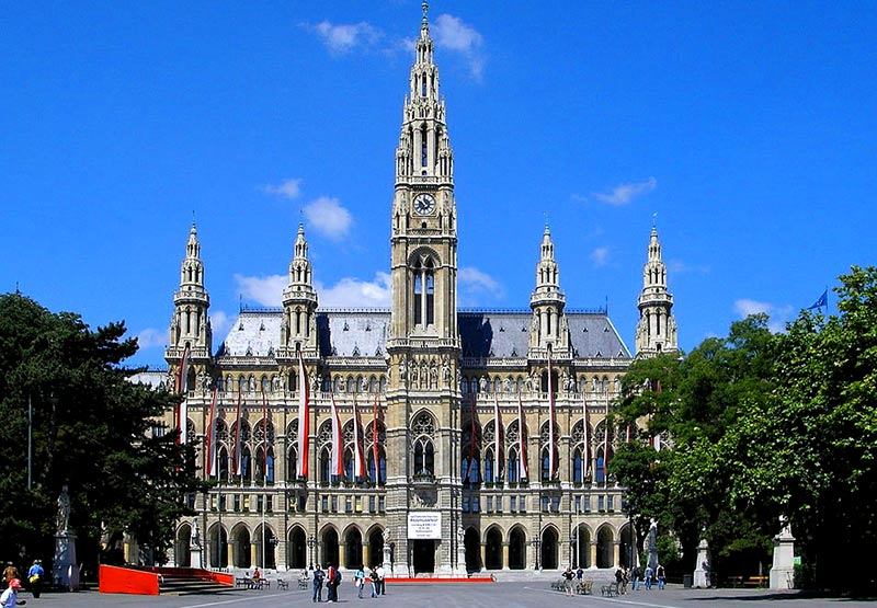 Viedeň Radnica Vienna_Rathaus