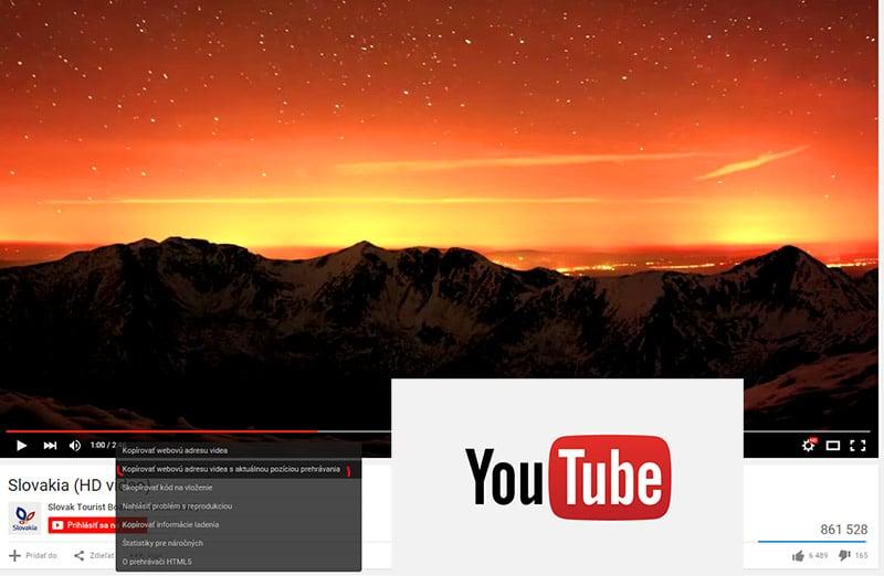 Ako zdieľať youtube video s presným časom   Candyman.sk