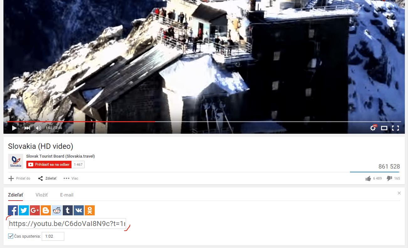 Zdieľaním videa
