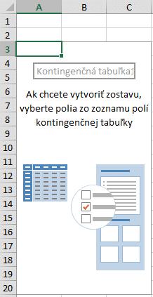 Vytvoriť zostavu kontingenčnej tabuľky