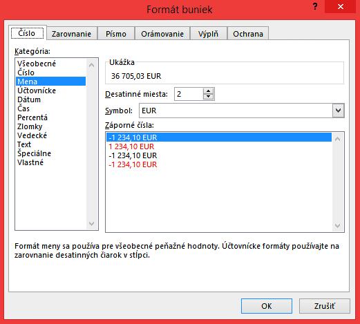 MENA | Excel príručka