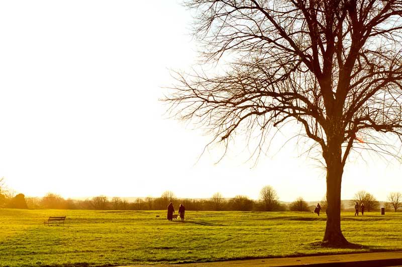 prechádzka na slnku