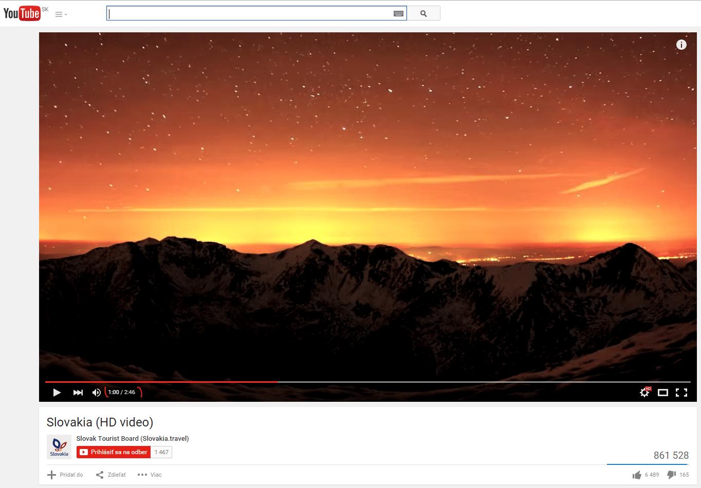 Kopírovanie youtube URL adresy