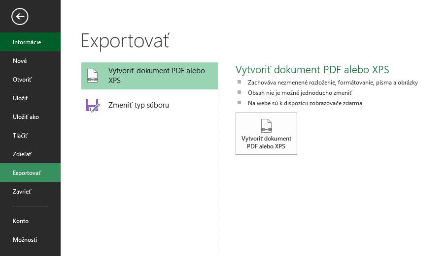 Exportovať do pdf