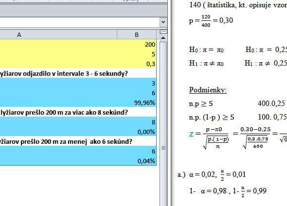 štatistické funkcie v exceli